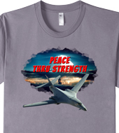 Peace Thru Strength t-shirt